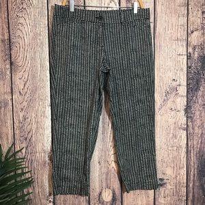 Ann Taylor Loft Pants 10 Original Crop Printed